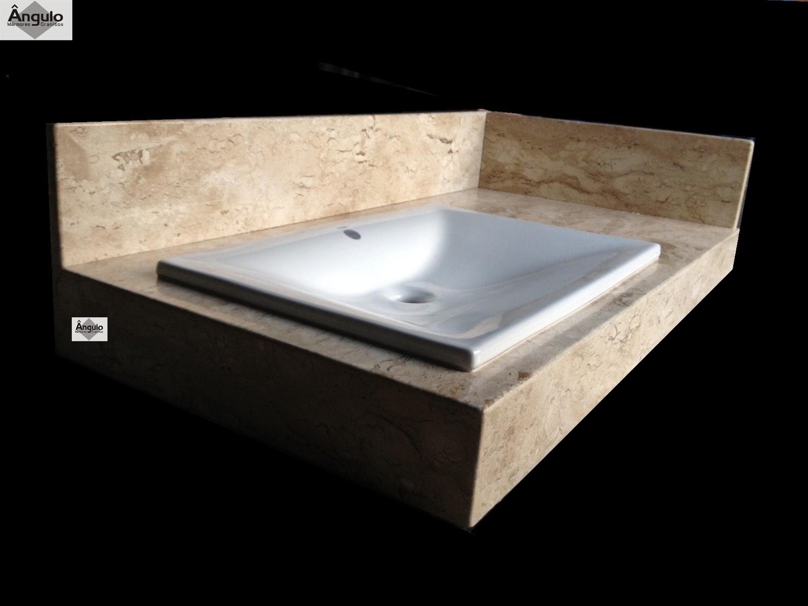 Ângulo Mármores e Granitos: Bancada Para Banheiro Bege Bahia #856946 1600x1200 Bancada De Banheiro Marmore Bege Bahia