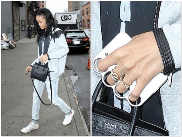 Rihanna iphone case knuckle soco inglês blog Mamãe de Salto ==> imagem retirada da internet