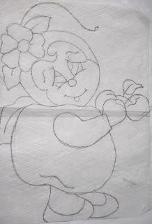 joaninha fantasiada de maça