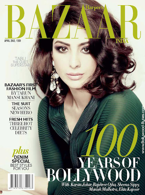 Beautiful Tabu Cover Girl Hyper's Bazaar India April 