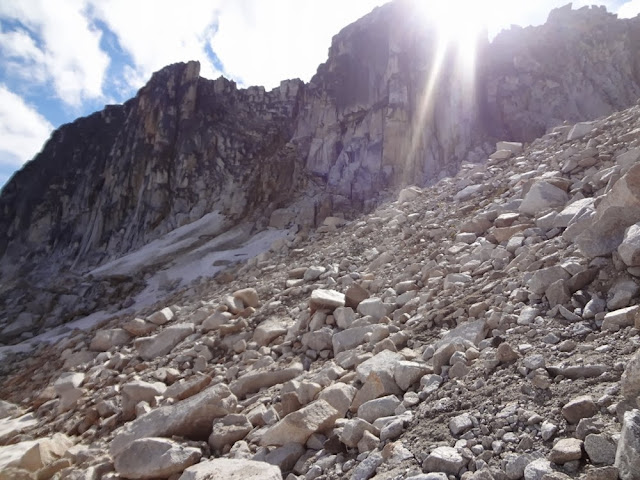 Col between Mt. Gandalf and Mt. Aragorn