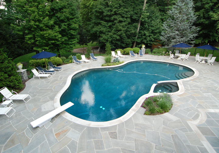 Life and love pool landscape designs for Gunite pool design ideas