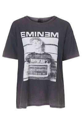 Eminem Print Tee by Topshop