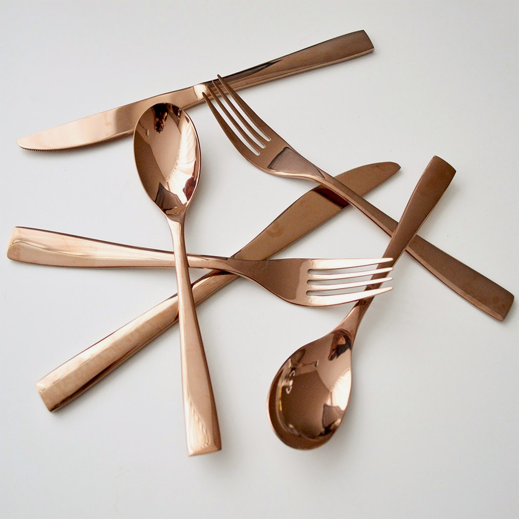 Exceptional Rose Gold / Copper Cutlery Set I Got At Target This Morning Is What Inspired  Me To Write This Post.