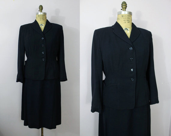 1940s plus size suit wwii