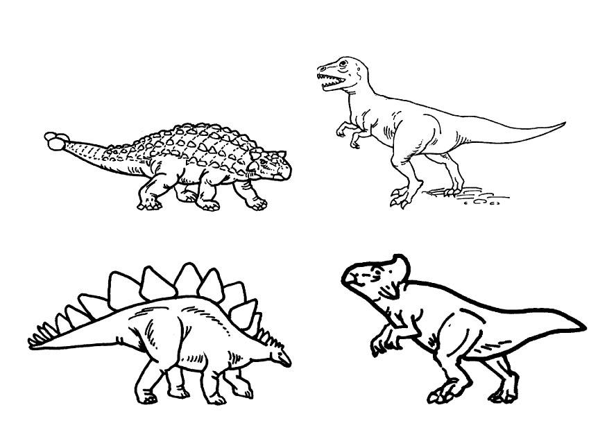 LAMINAS PARA COLOREAR - COLORING PAGES: Dinosaurios para ...