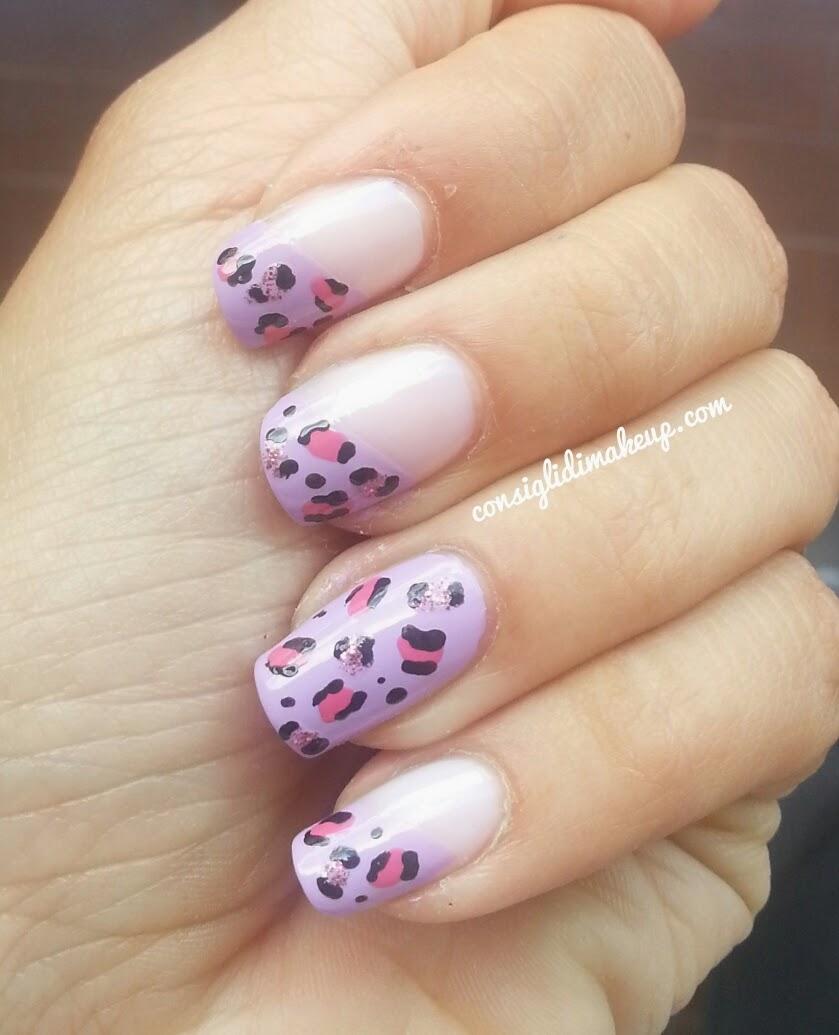 nail art leopardata primaverile