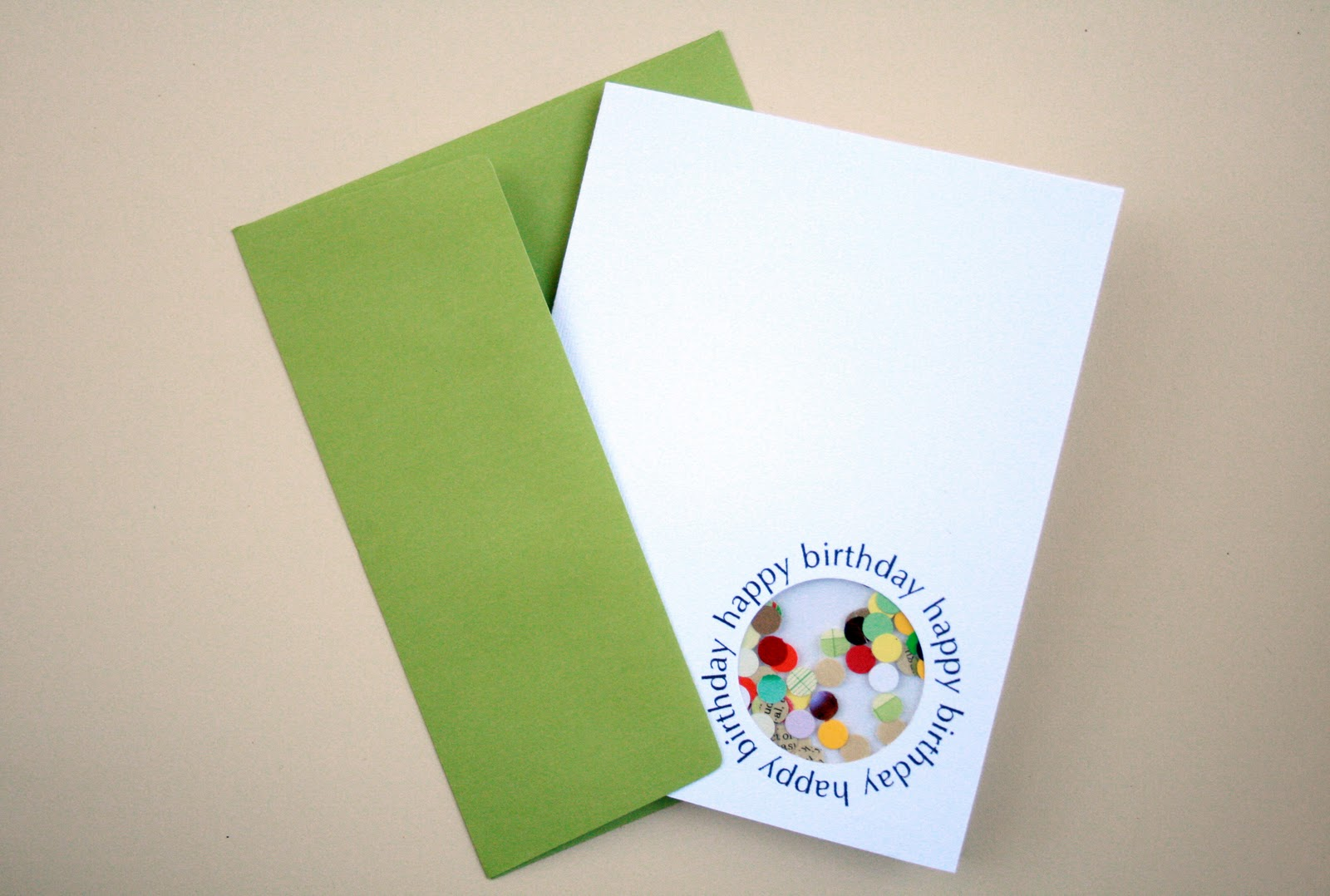 The Creative Place A Confetti Birthday Card