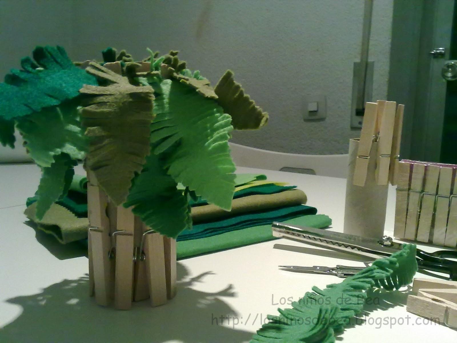 Los ni os de bea preparamos el nacimiento del colegio - Como hacer una palmera artificial ...