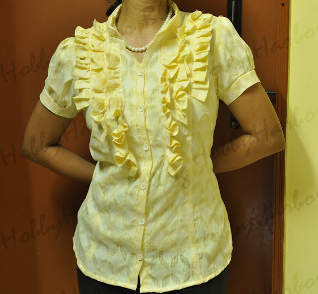 burdastyle JJ blouse with ruffles