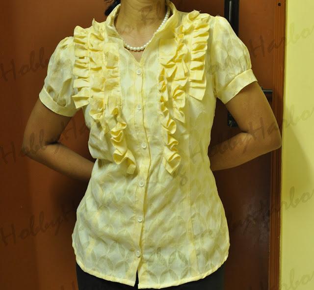 burdastyle JJ blouse with ruffles