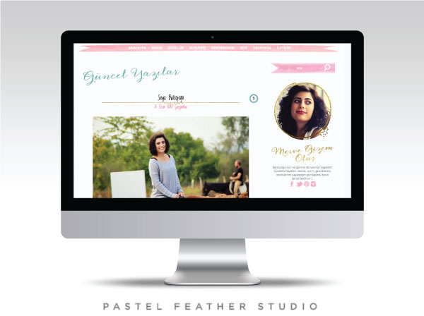 pastel feather studio, blogger custom template