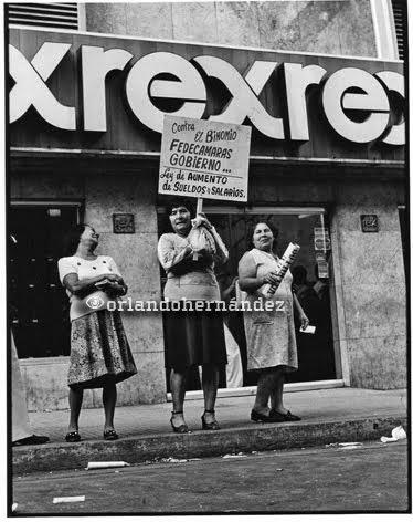 Protesta en Caracas. Octubre 25, 1979