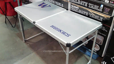 Tailgate before the game with the Washington Huskies Tailgate Table