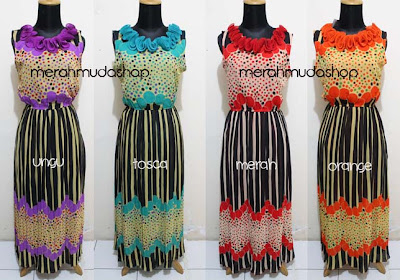 Baju dress chiffon ruffle