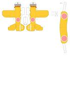 Летающие модели самолетов. Шаблон