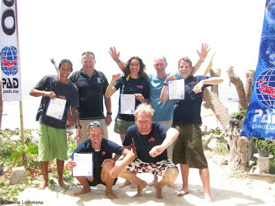 PADI IE on Gili Air in Indonesia at Oceans 5
