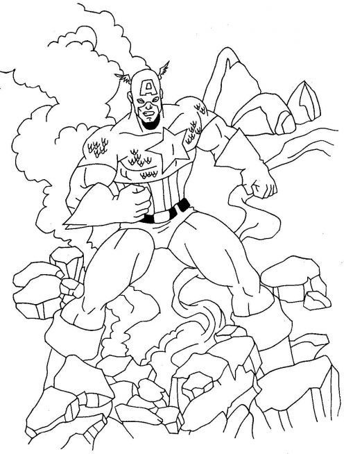 Fun Coloring Pages Captain America