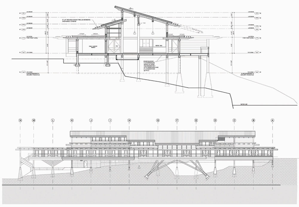 Plan Section Elevation Drawings : Tseshaht tribal multiplex and health centre by lubor