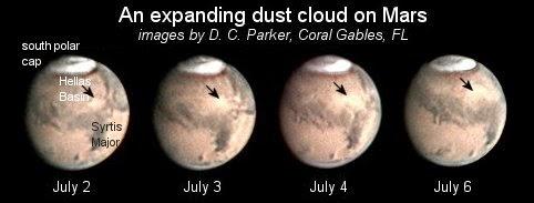 Tormenta polvo Marte