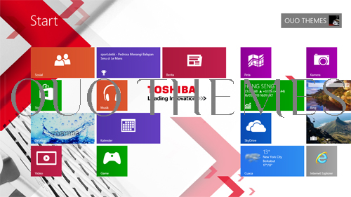 Toshiba Theme For Windows 7 And 8