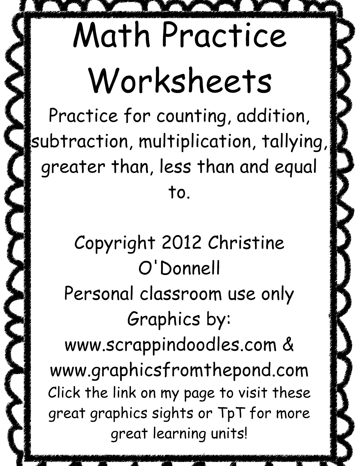 math worksheet : the crazy pre k classroom math practice freebies! : Addition Worksheet Creator