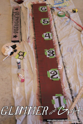 Glimmer And Grit Diy Painted Rustic Growth Chart