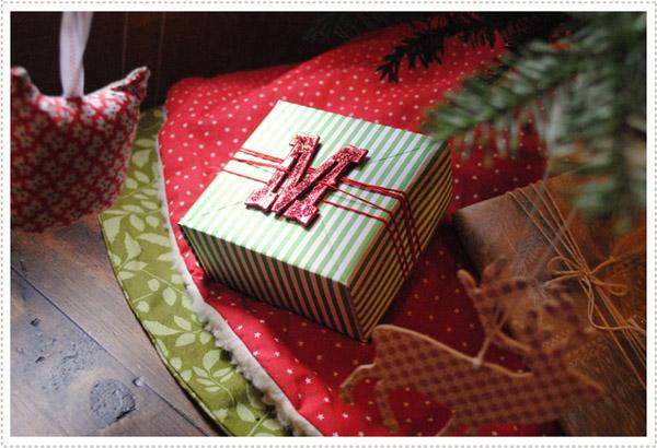 simple y bonito envoltorio de regalo de navidad