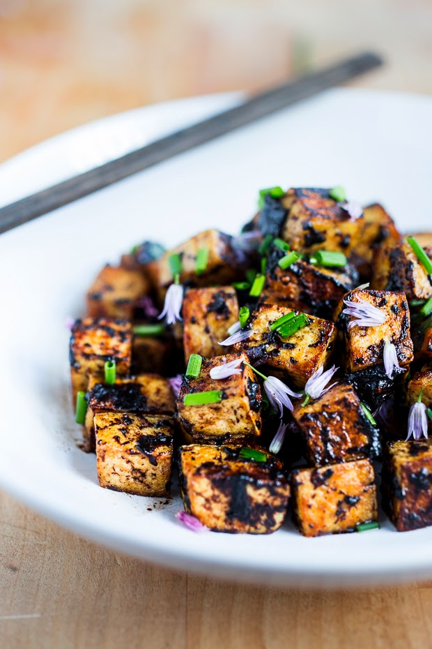 Feasting at Home : Black Garlic Tofu