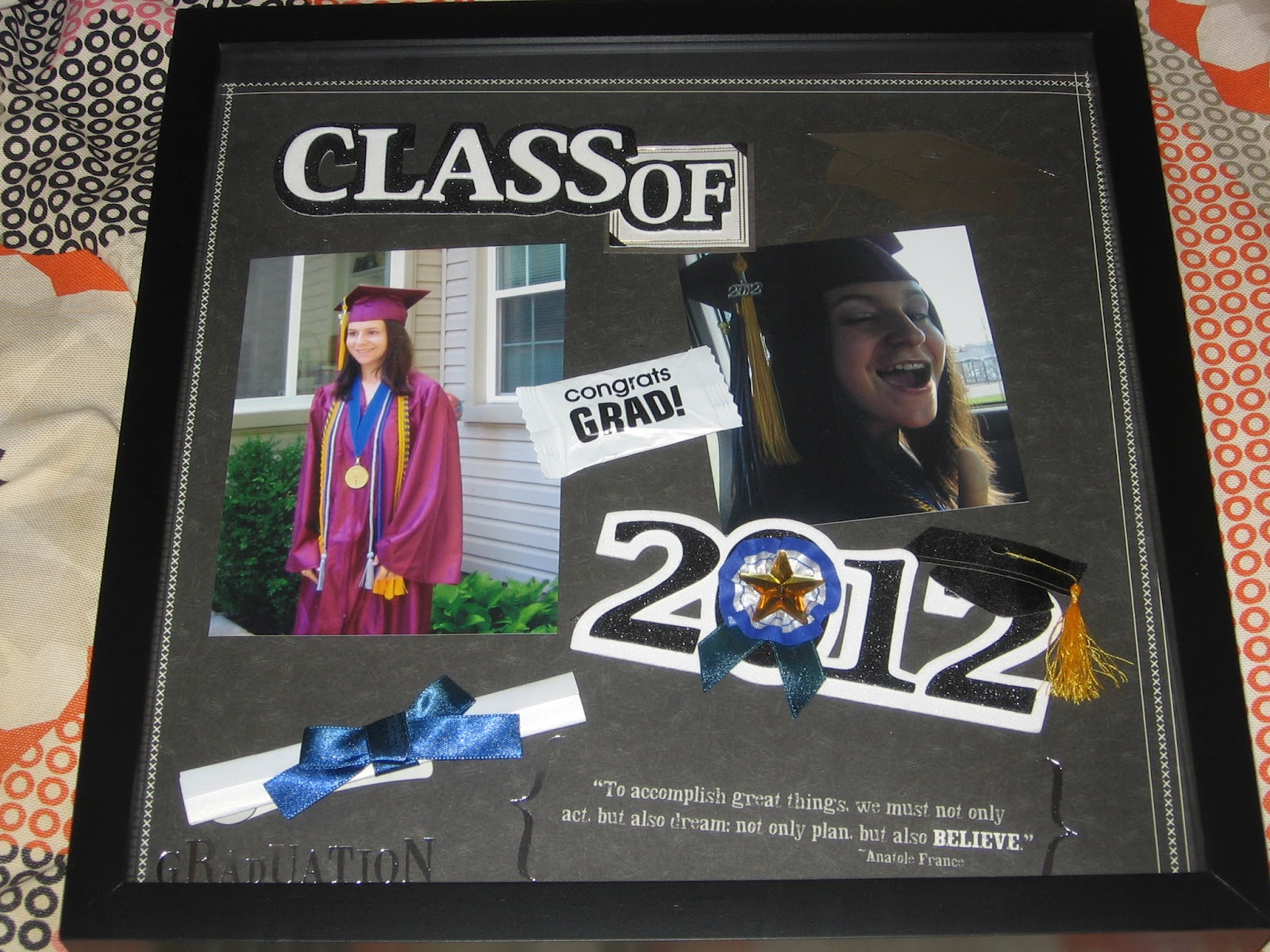 How to scrapbook school years - My Sister Graduated High School So I Made Her A School Years Scrapbook See Next Post And A Graduation Scrapbook Frame I Had A Lot Of Fun Making This