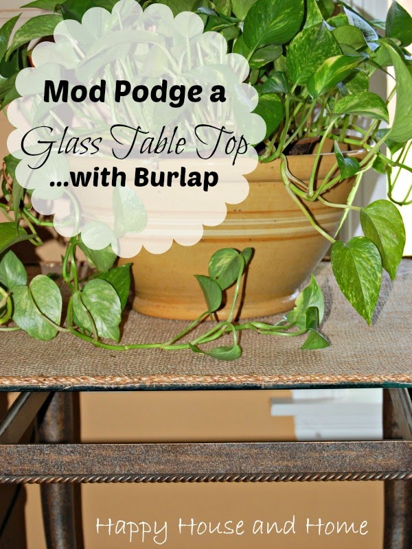 mod podge on glass, burlap mod podge, burlap projects, mod podge projects