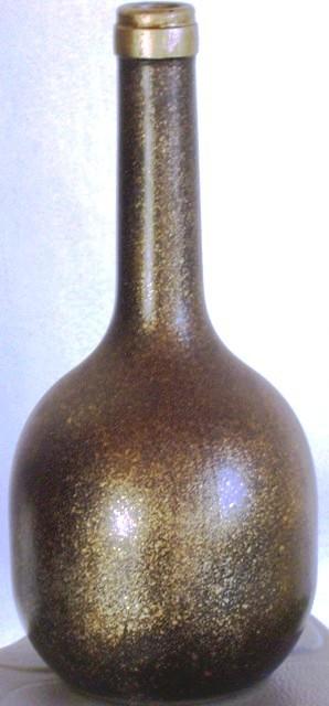 Reutilizar botellas vidro con salpicado, acrilicosy purpurinas