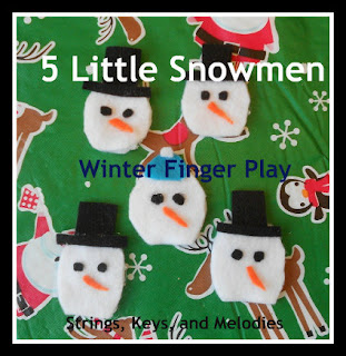 Finger Play Fun Day:  5 Little Snowmen photo