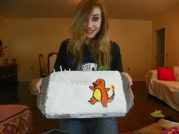 charmander cake bolo