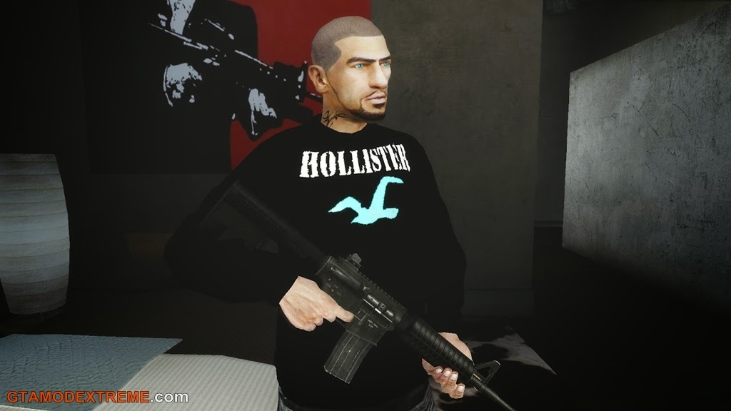 Baixar roupa Blusa da Hollister Para GTA IV