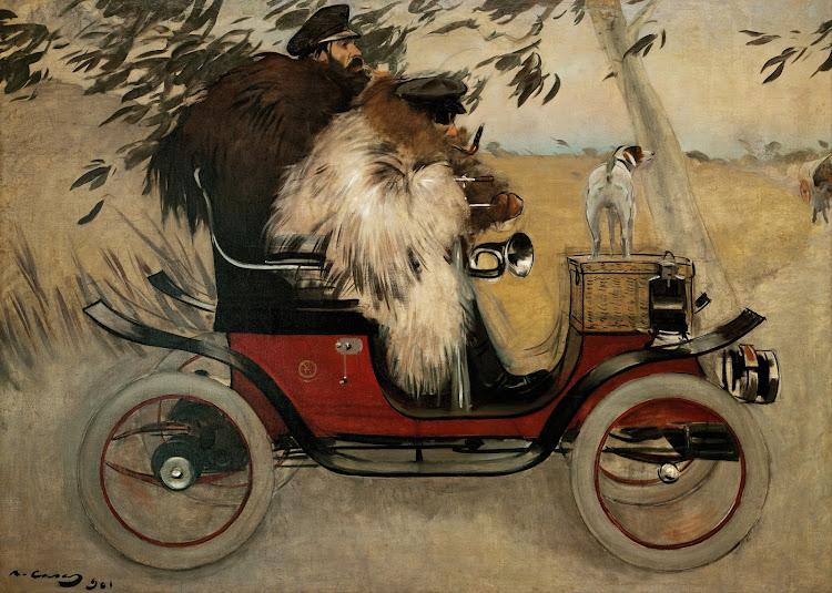 Ramon Casas - Ramon Casas i Pere Romeu en un automòbil