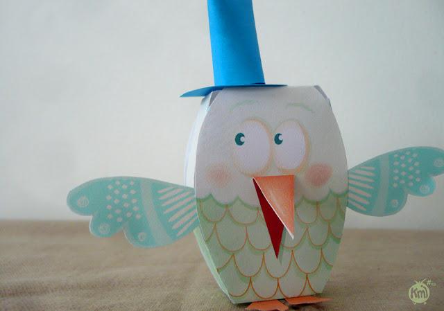 paper toys bird camille epplin - kmiep