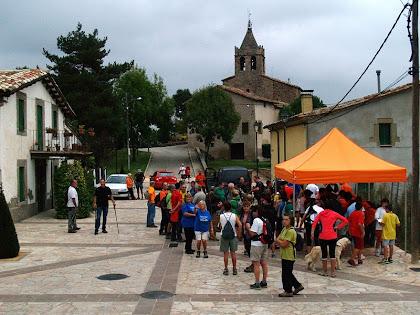 La Plaça Major, l'església de Santa Maria i la rectoria de Vilanova de Sau