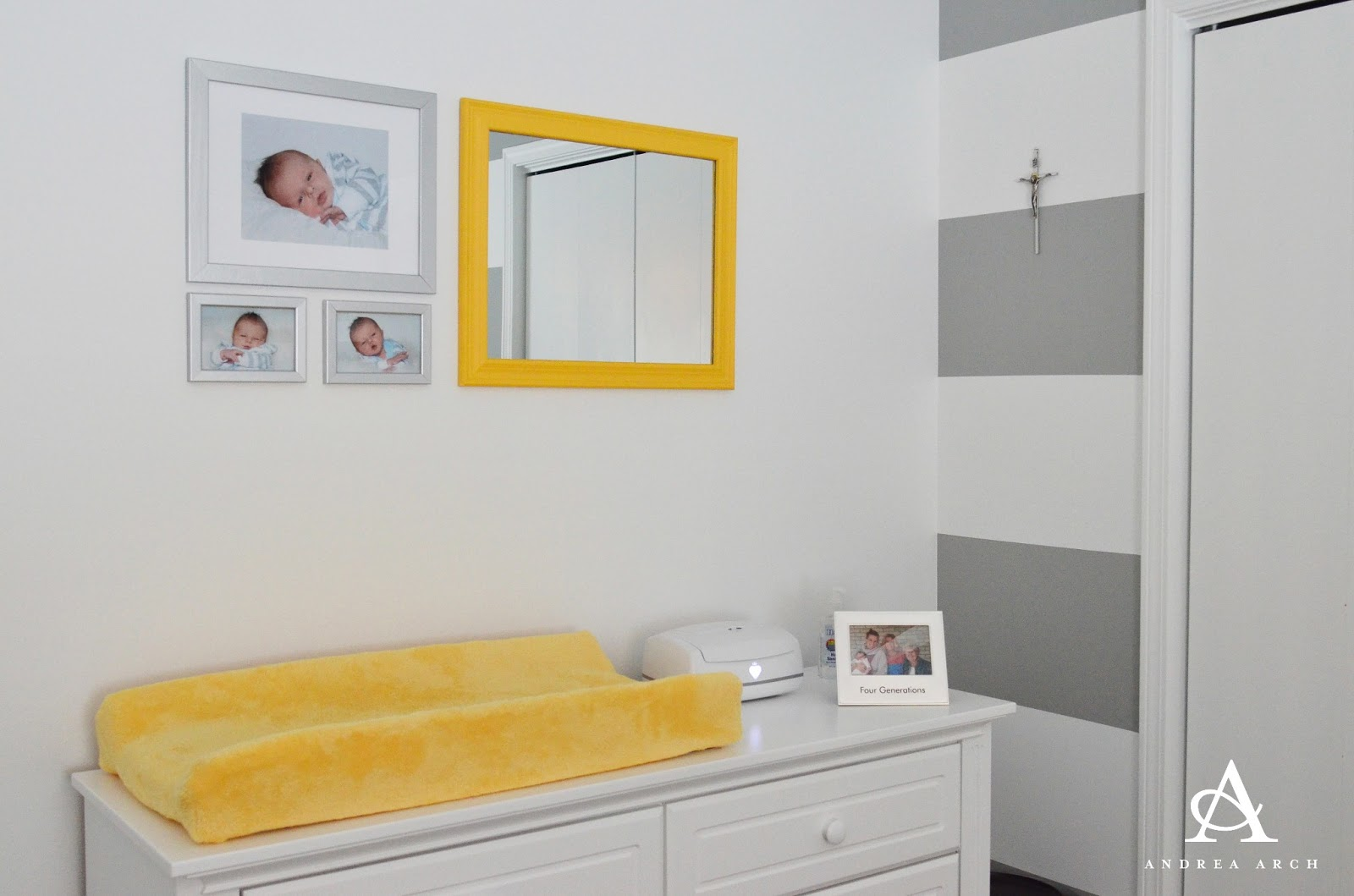 baby nursery yellow grey gender neutral. our spare bedroom\u0027s walls started out this um, unique shade of sea foam  green. that had to go. check my tutorial on how paint straight, baby nursery yellow grey gender neutral e