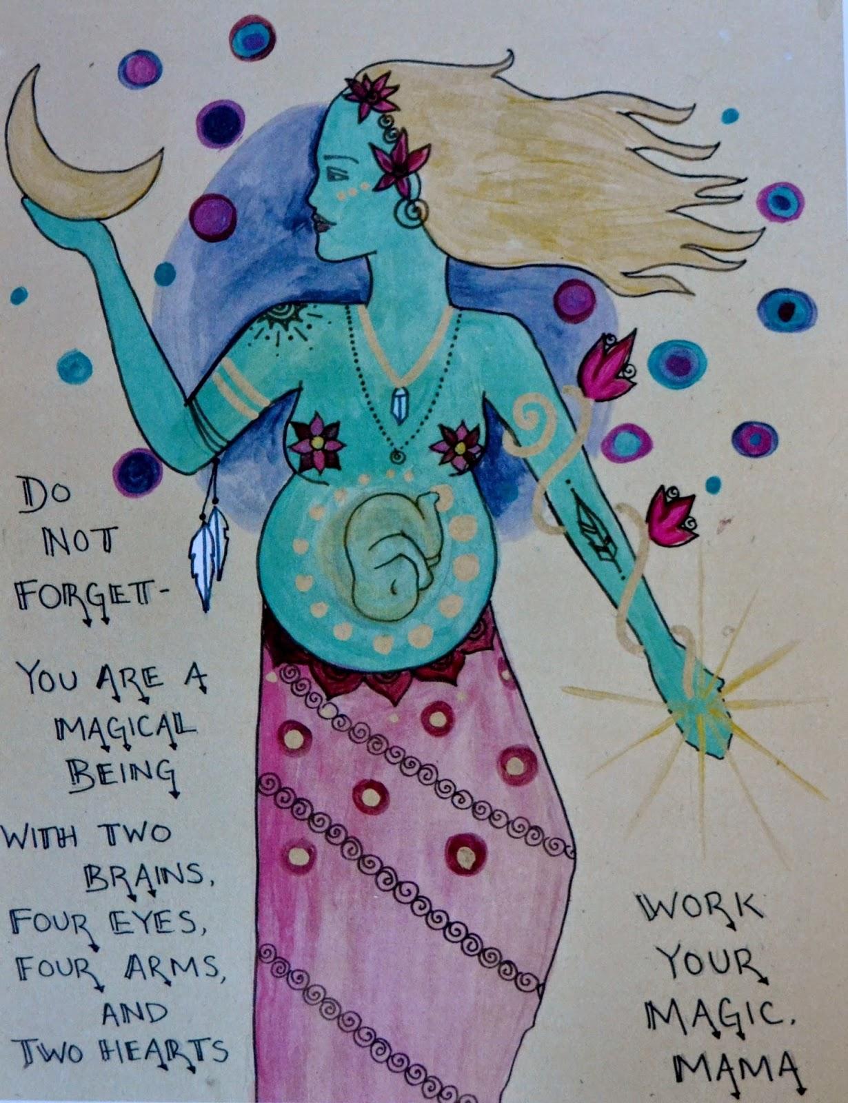 goddess mama pregnancy art