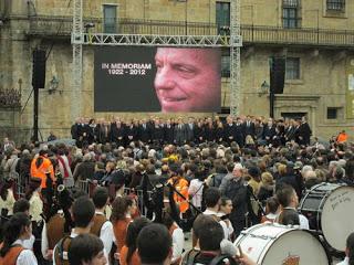 Funeral de Manuel Fraga, Obradoiro, Santiago de Compostela