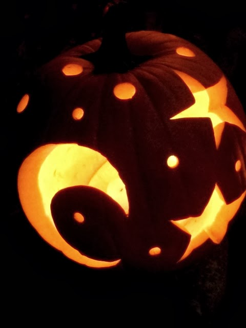 Star and Moon Pumpkin; Jack-o-Lantern Galaxy