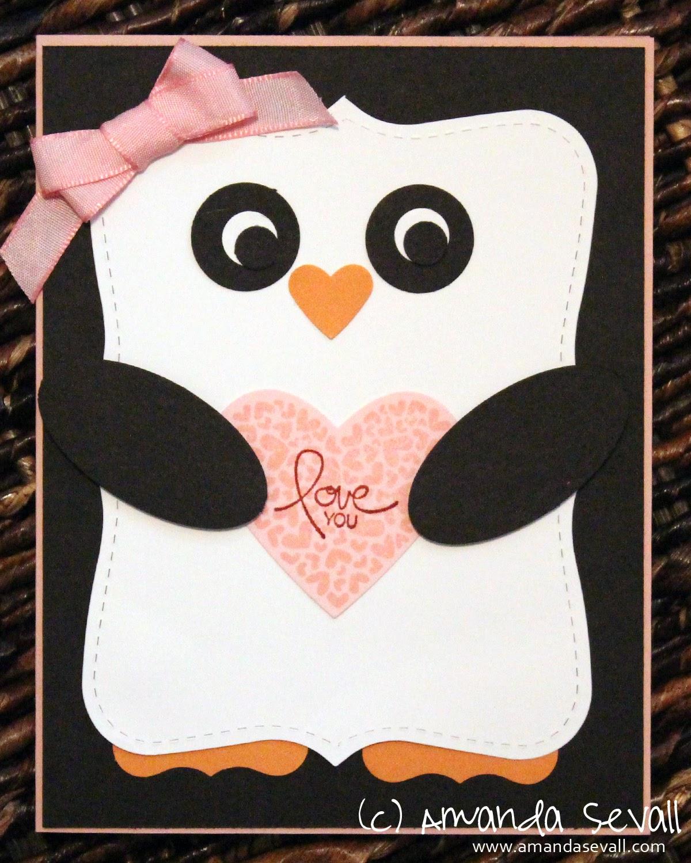 Amanda Sevall Designs 365 Cards Love You Penguin – Nephew Valentine Cards
