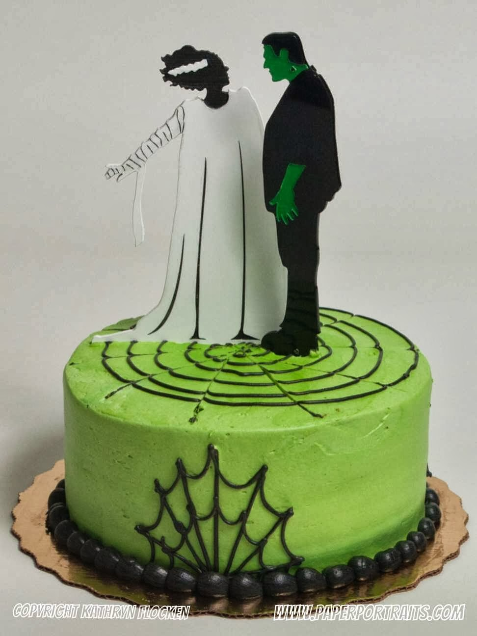 Cake Toppers Cake : PaperPortraits.com: Laser Cut Halloween and Wedding Cake ...
