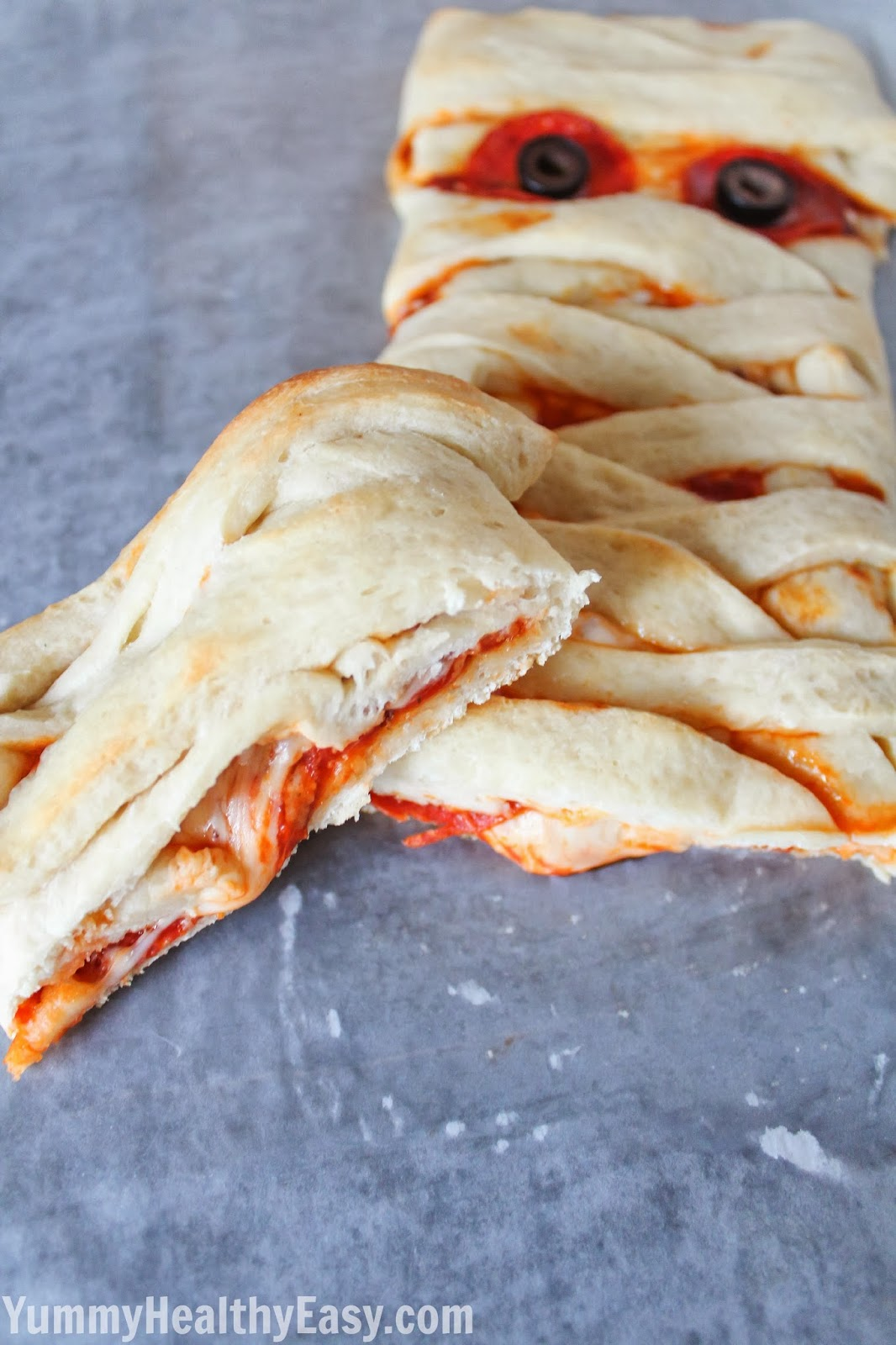 Pizza Mummy Braid - Yummy Healthy Easy