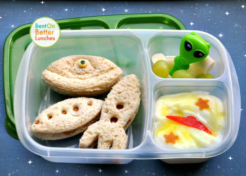 UFO bento lunch by BentOnBetterLunches