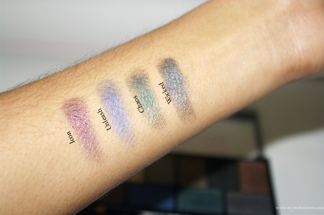 MUA Smokin Palette Swatches: Colours