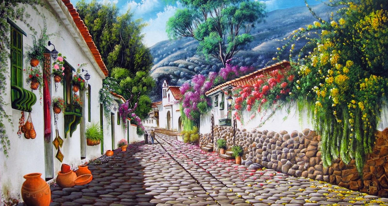Cuadros modernos pinturas y dibujos cuadros al leo de for Cuadros pintados al oleo