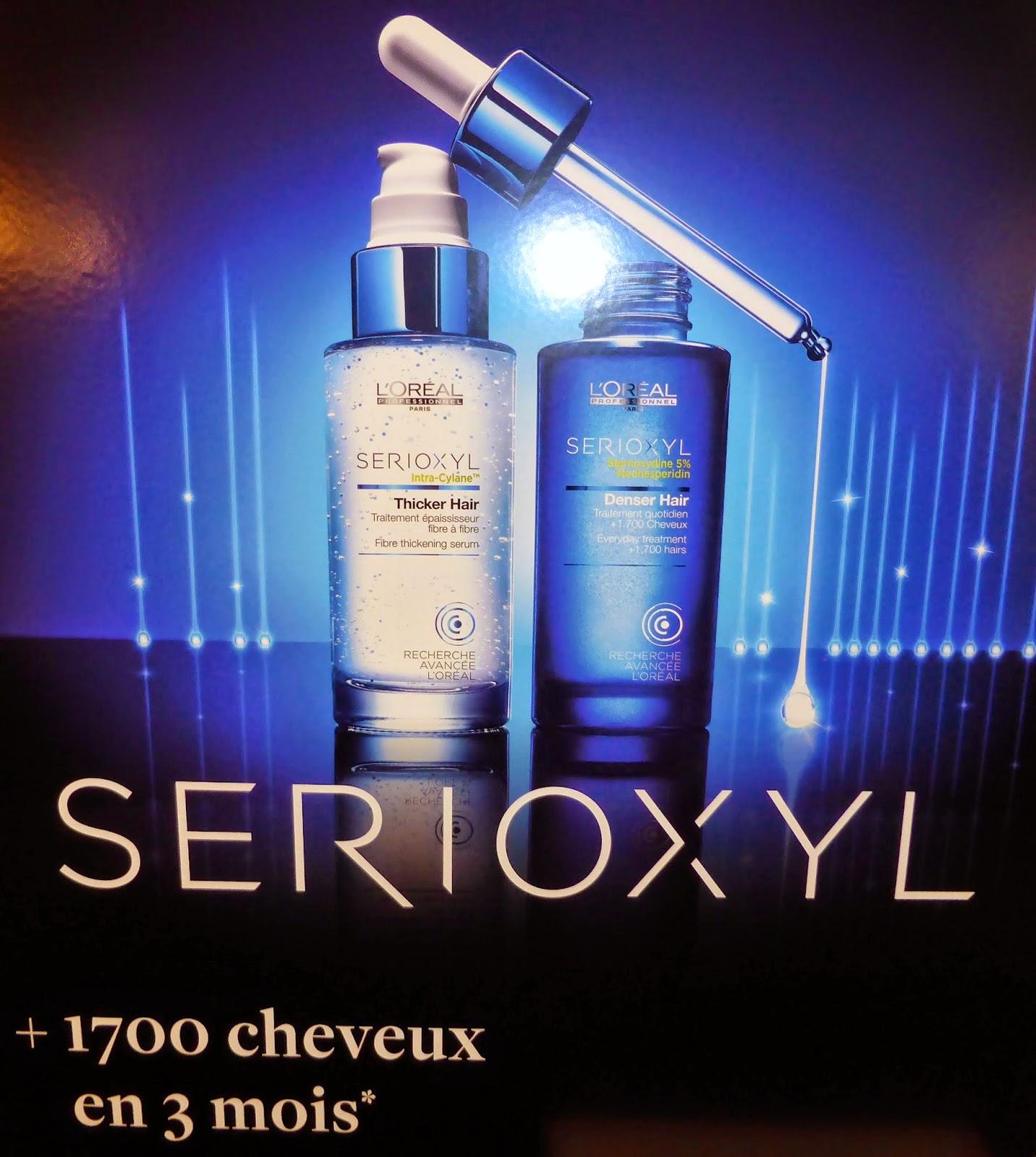 Serixoyl de L'Oréal Recherche Avancée, la solution pour les besoins de densité et/ou d'épaisseur ,  disponible au Studio 54, salon de coiffure à Montpellier.