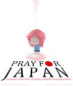mande boas vibrações para o japão